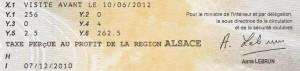 Le document indique clairement le nom de la région percevant la taxe.
