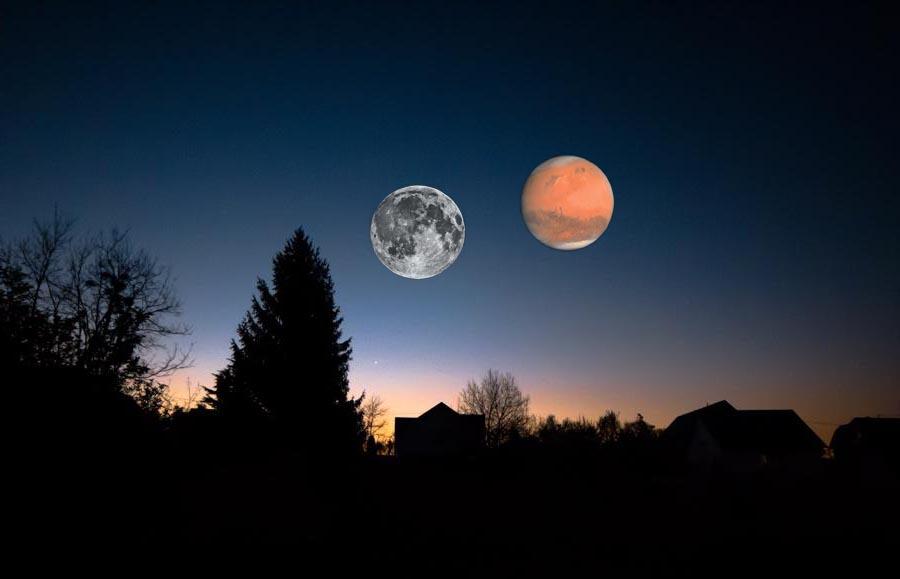 1afeb6e67 Un événement cosmique qui n'arrive que tous les 35 000 ans : le 27 juillet,  la planète Mars sera aussi grosse que la Lune